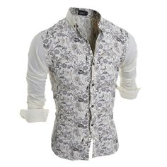 >> Click to Buy << Men's Shirts Dress Floral Lapel Skinny Modish Tops Long Sleeve Shirts Casual Splice Hot Shirts 0888 #Affiliate