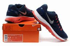 Nike Lunarglide Mens Running Shoe Dark Blue Red         #Nike #Sneakers
