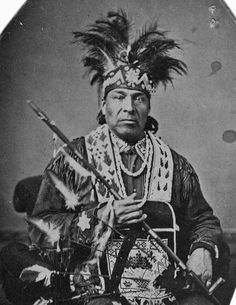 Iroquois Indian photographed in New York in 1875