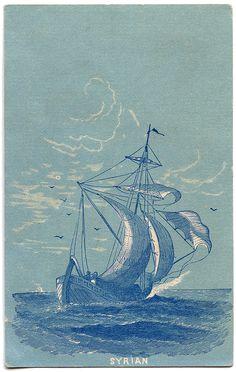 13 Vintage Ship Images!