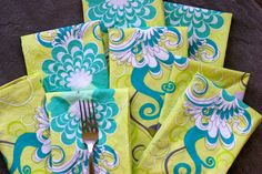 mitered-corner cloth napkins. I've been wanting to make cloth napkins and stop using paper ones...