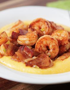 "This is ""HANDS DOWN"" my absolute favorite meal in the WHOLE WORLD! If i had a last meal i would eat shrimp and grits <3<3<3 lol"