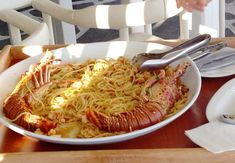 Lobster Pasta Mykonos greece