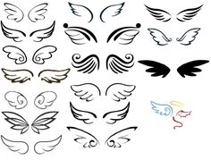 Wing pairs I made from all choices so far I saw and let's… – My Pin Table . - Wing pairs I made from all choices so far I saw and let's… – My Pin Table – Shared Pins - Mini Tattoos, Body Art Tattoos, New Tattoos, Small Tattoos, Tatoos, Pair Tattoos, Celtic Tattoos, Henna Designs, Tattoo Designs
