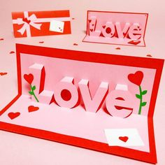 Pop Up, Pen Pal Letters, Valentines Day, Card Making, Paper Crafts, Scrapbook, Templates, Ornaments, Photo And Video
