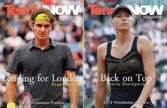 Tennis Now's 2012 Wimbledon Preview! In this edition we put Roger Federer and Maria Sharapova on the covers, took a peek at their Wimbledon gear, and wrote feature articles touching on their back stories as they attempt to take SW19 by force. Read here it by clicking on the link!