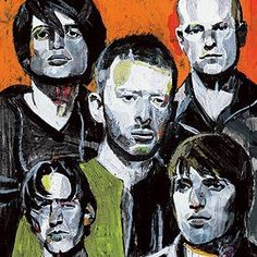 Andrea Ventura Illustration for 100 Greatest Artists: Radiohead Rock And Roll, Radiohead Albums, Christoph Niemann, Paranoid Android, Thom Yorke Radiohead, Play That Funky Music, Soundtrack To My Life, Dave Matthews, Music Lovers