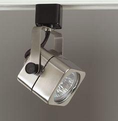glomar 1 light mr16 12 volt black track lighting head round
