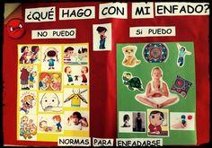 Mediante esta imagen se puede trabajar la gestión y el control de las emociones en educación infantil.