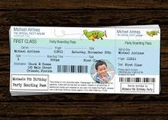 Printable Airplane Birthday Party Airline Ticket Invitation | B-day ...