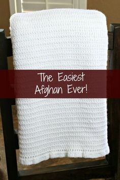 The easiest afghan ever! It's all single crochet stitches and is absolutely beautiful!