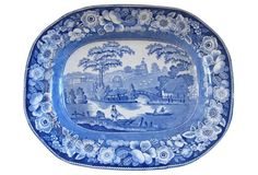 Antique English  Wild Rose Platter