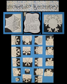 snowflake symmetry---take it a step further and do pos/neg space...