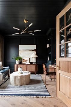 Unconventional Design Solutions - Studio McGee Home Office Design, Home Office Decor, House Design, Interior Office, Office Designs, Design Shop, Office Ideas, Dark Walls, White Walls