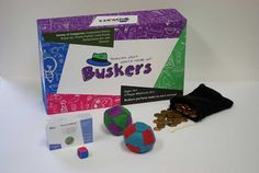 Buskers board game and contents Contents, Board Games, Design, Tabletop Games, Table Games