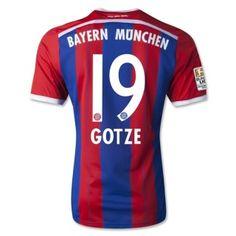 d89195707ff Latest Design Bayern Munich Gotze 19 Home Soccer Jersey Shirt - Red