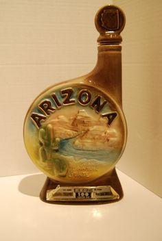 When liquor bottles were glamorous!  Vintage 1968 Jim Beam Arizona Liquor Decanter Bottle. $13.00, via Etsy.