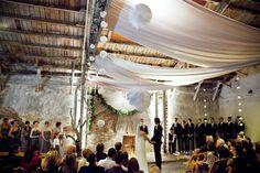 Amazing DIY ceremony decor.
