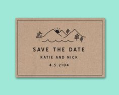 Rustic Save the Date Hipster Save the Date by DAYDREAMPRINTS, $20.00