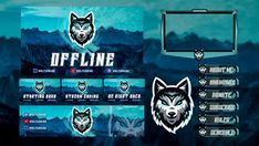 Design a custom twitch overlay and logo for your stream by Ilyastabit