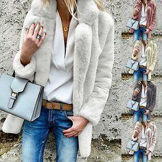New Ladies Long Shaggy Soft Faux Fur Fluffy Jacket Coat 8-22