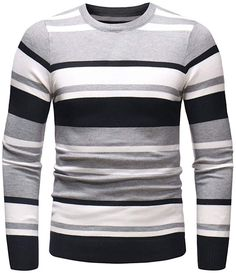 2019 New Shirts For Men !- 2019 New Shirts For Men ! Charberry Autumn Winter Sweater Pullover Slim Jumper K… 2019 New Shirts For Men ! Mens Winter Sweaters, Mens Fashion Sweaters, Mens Striped Sweater, Men Sweater, Dope Outfits For Guys, Vogue, Mens Suits, Fashion Details, Men's Fashion