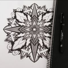 #mandala #zendala #zen #linework #zenart #penandink #symmetry #intricate #mandalatattoo #blackwork #zentangle #instadraw