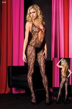 Missvera Sırtı ve Göbeği Dekolteli Vücut Çorabı / Missvera Body Stocking
