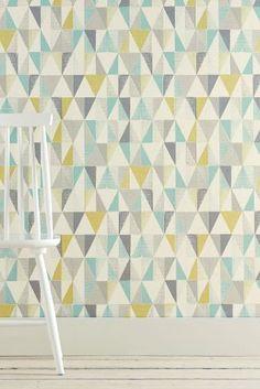 Strukturierte Tapete mit geometrischem Muster heute online kaufen bei Next…