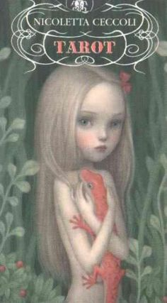 Celebrated illustrator Nicoletta Ceccoli draws in a style of provocative enchantment. Her tarot deck moves between harmony and madness, capturing a wholly unique element of eerie innocence. These card