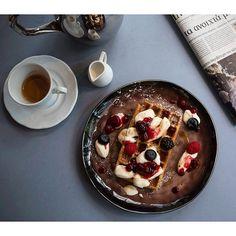 Morning ritual at THE TWENTYONE RESTAURANT & BAR! Photo by @thetwentyonerestaurant Restaurant Names, Restaurant Bar, Morning Ritual, Athens, Breakfast, Desserts, Food, Morning Coffee, Tailgate Desserts