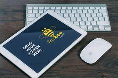 iPad perspective mockup #free #psd #apple #ipad #mockup #office #desk #