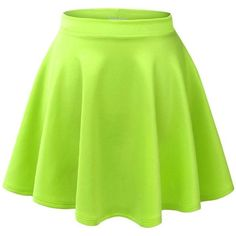 MBJ Womens Basic Versatile Stretchy Flared Skater Skirt ($6.89) ❤ liked on Polyvore featuring skirts, dresses/skirts, stretchy skirts, stretch skirt, flared hem skirt, flare skirt and flared skirt