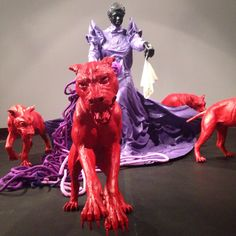 Mary Sibande's 'The Purple Shall Govern' at Standard Bank Gallery
