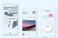 Ad: Skeuomorph Ui Kit by Harpen Design on @creativemarket. Introducing the Skeuomorph Ui Kit. Skeuomorph is 60 screens with unique elements in minimal style. Super futuristic palette and shadows #creativemarket