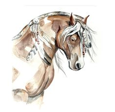 Original paintings horses Wild horse art Mustang by fairysomnia, $185.00