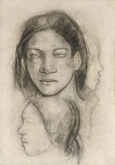 Gauguin http://drawingowu.wordpress.com/2011/11/11/head-studies/#jp-carousel-363