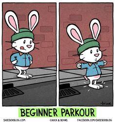 beginner's parkour...we all start somewhere