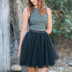 """Space 46 Boutique on Instagram: """"Friday calls for black & chic. Shop the Sweet 16 #tulleskirt, now available at @shopskylarbelle."""""""