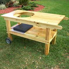 Grill/smoker stand built with YellaWood.
