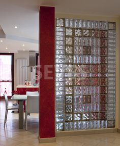 Seves Glassblock is the world's leading manufacturer of glass blocks. Discover all the colors, formats and finishing for interior design and architectural applications Office Interior Design, Interior Walls, Glass Partition Designs, Glass Block Shower, Glass Blocks Wall, Glass Brick, Deco Originale, Home Decor, Gallery Gallery