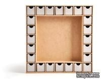 Деревянная заготовка - Адвент календарь  от Kaisercraft - Beyond the Page Collection - Advent Calendar Kit, 2,5 x 33 x 33,7 см. - ScrapUA.com