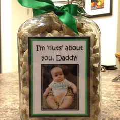 """Daddy' Little Peanut """"I'm 'nuts' about you, Dad!"""" Father's Day Gift"""