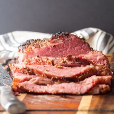 The best way to make corned beef with mustard in the oven. Includes directions for how to bake corned beef and how long corned beef should cook. Oven Roasted Corned Beef, Corned Beef Seasoning, Cooking Corned Beef Brisket, What Is Corned Beef, Beef Brisket Recipes, Corned Beef Oven Recipe, Grilled Corned Beef, Meat Recipes, Dinner Recipes