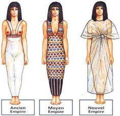 La mode féminine. - La magie de l'Egypte Ancienne