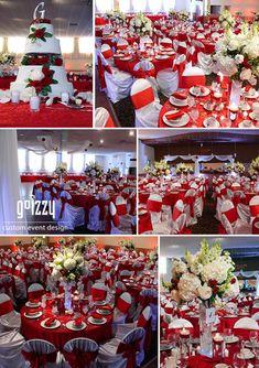 GoIzzy Custom Event Design: Red and White: True Polish Wedding!