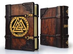 RESERVED for M.N.S. The Viking leather journal 7 x por aLexLibris