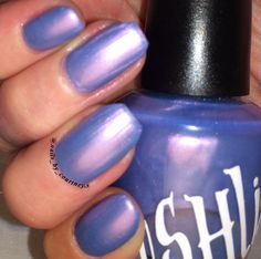 """Unique Pearl """"Periwinkle Pearl"""" Red - Blue Nail Polish Full Size 15ml Bottle"""