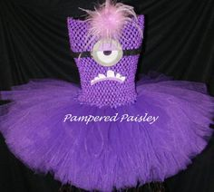 Despicable Me inspired tutu dress  Evil minion  by PamperedPaisley, $38.95