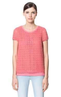 GUIPURE LACE TOP - Tops - Woman | ZARA Greece